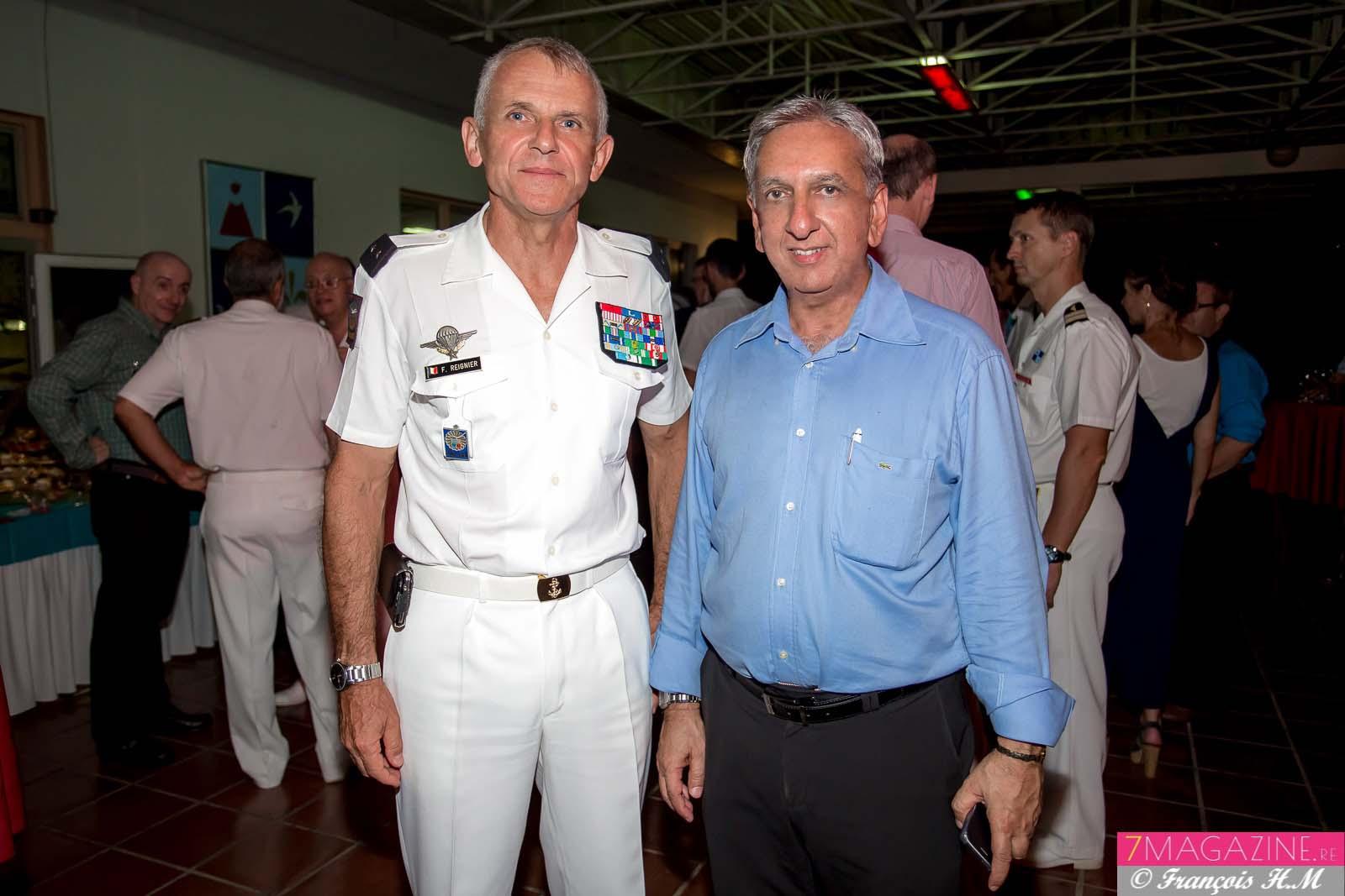 Général Franck Reignier et Aziz Patel