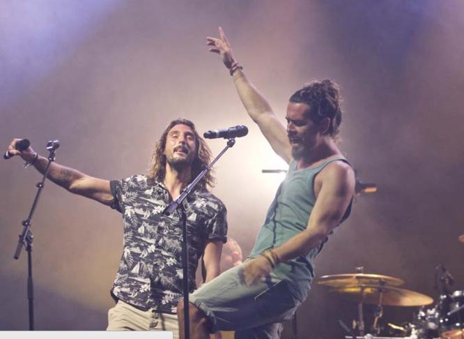 Les Fréro Delavega lors de leur concert à La Réunion (photo Patrick Yahaméti)