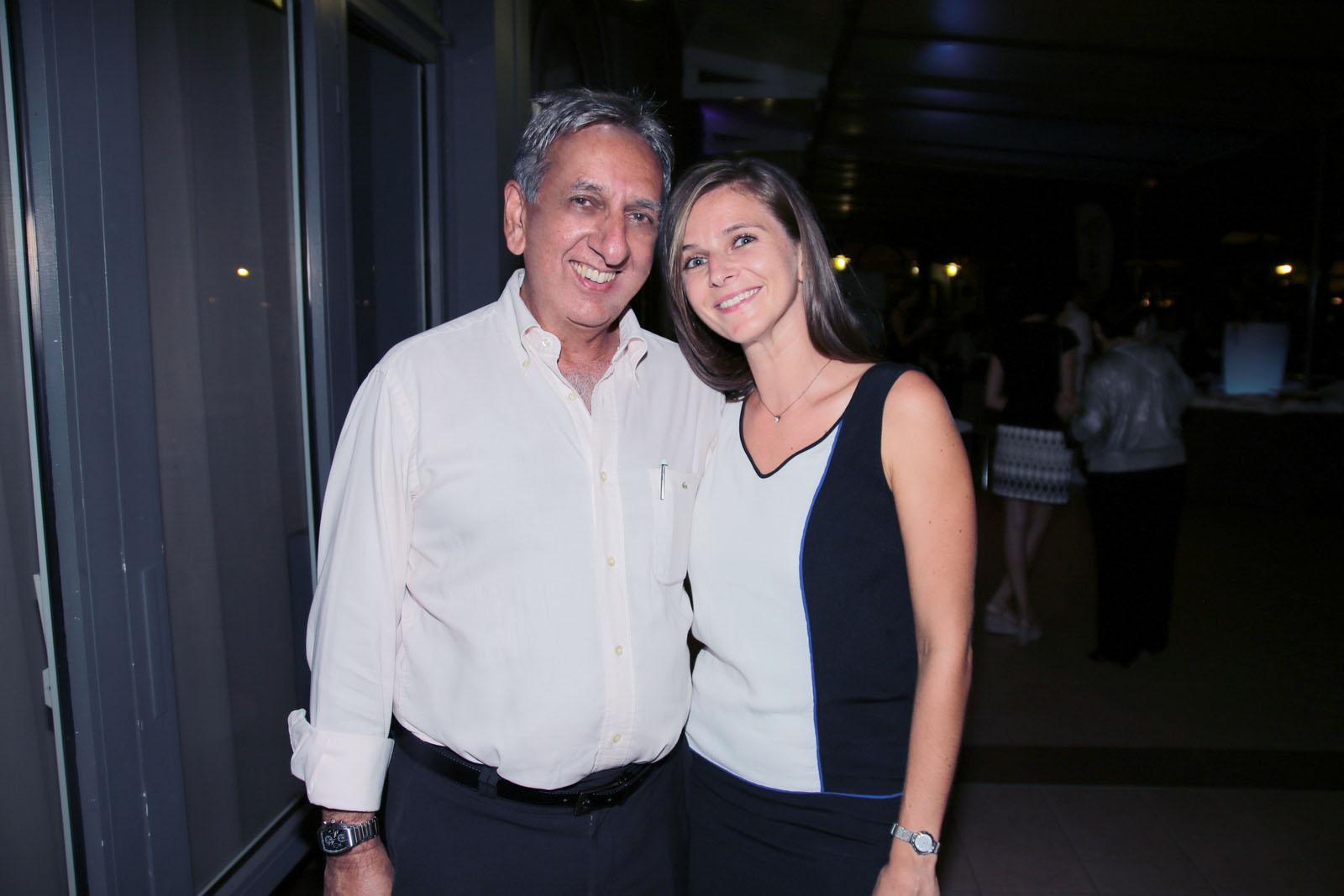 Aziz Patel et Julia Dalest, Chargée du développement parrainage et entreprises pour Coeur et Conscience à La Réunion
