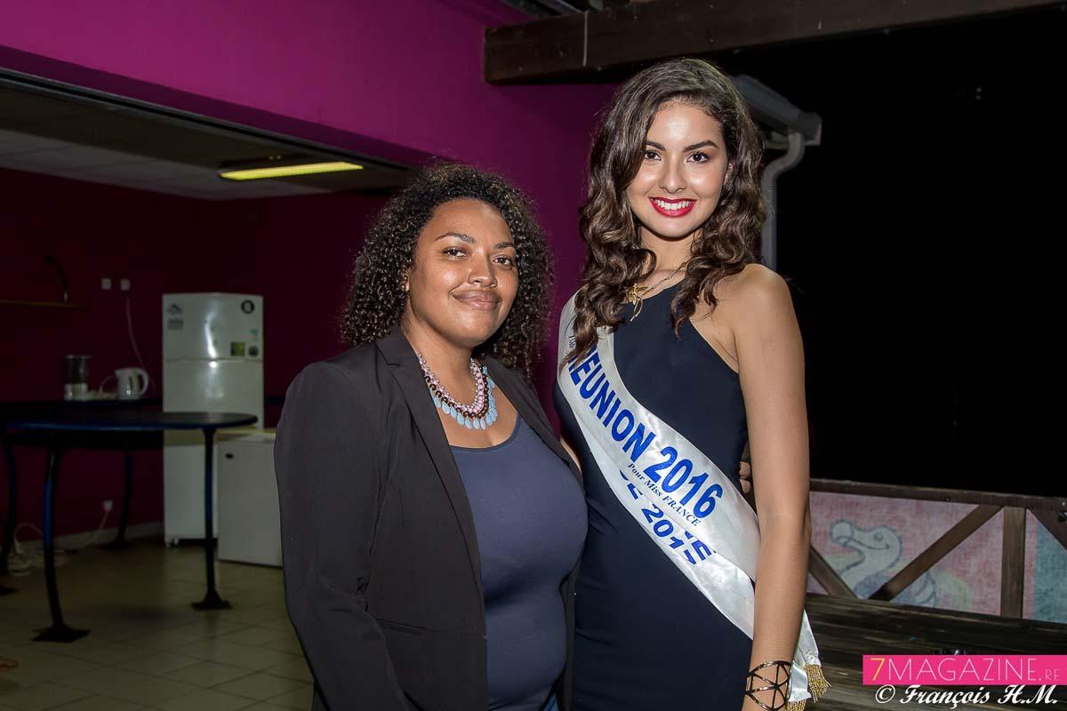 Miss Réunion avec Amandine Amassy, responsable protocole Mairie de Saint-Leu