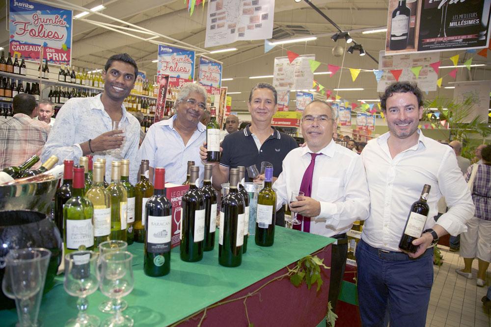 Mr Errapa, Mr Soubaya, Mr Lino, TTP et un représentant en vins, Mr Capdeville