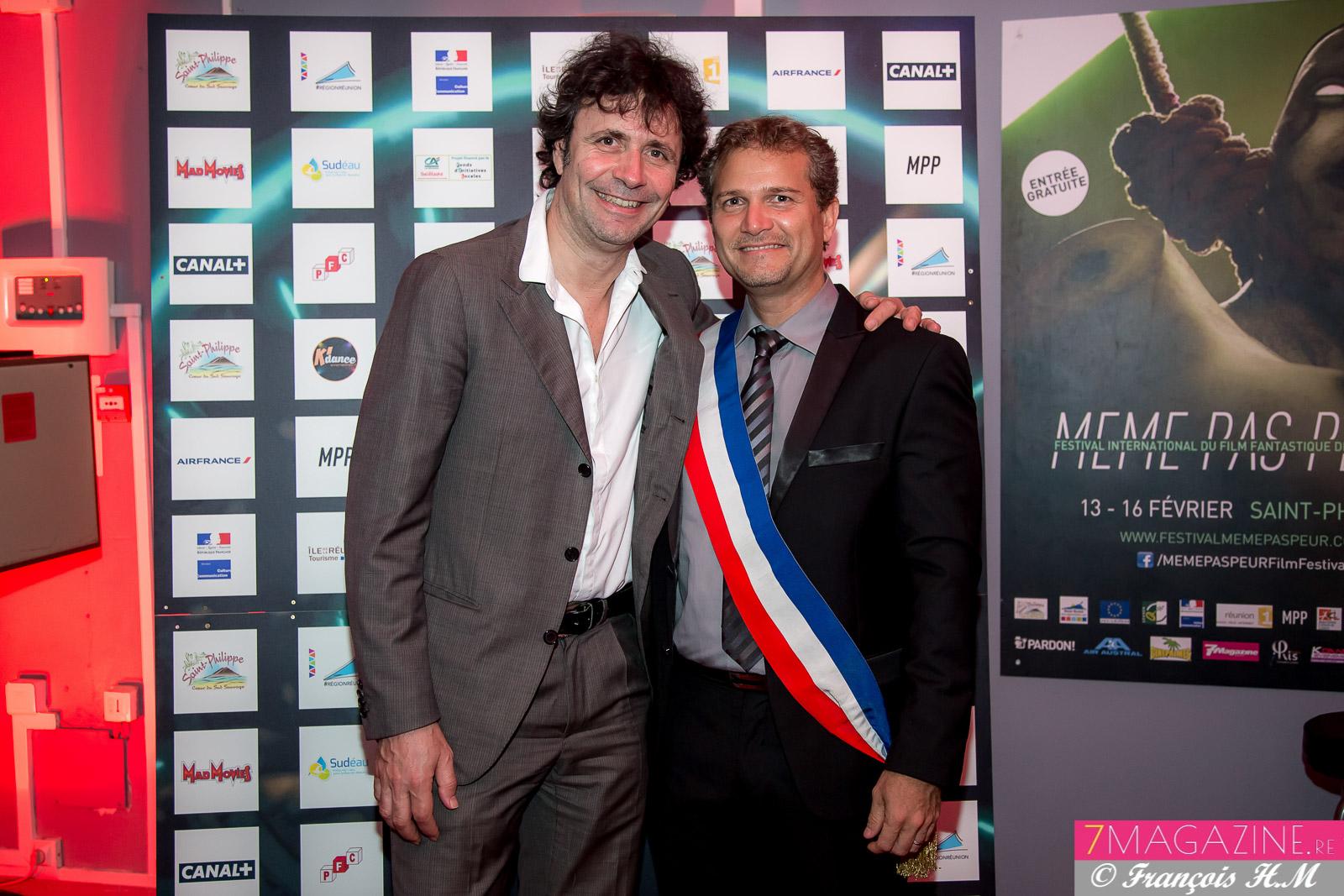 Christophe Carrière, journaliste de l'Express et Studio Ciné Live, et Olivier Rivière