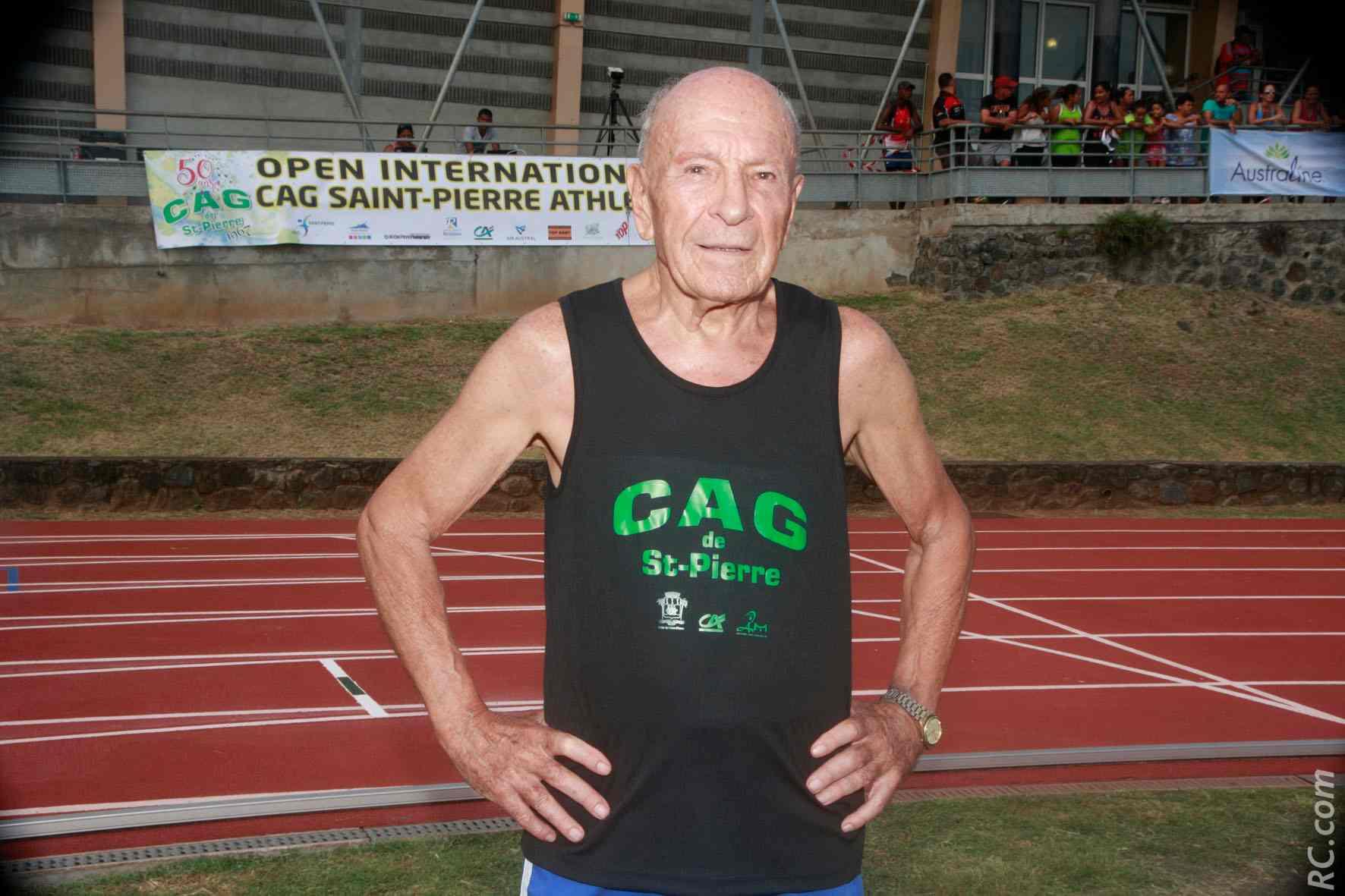 Michel Claverie, 86 ans, champion du monde du 200m aux Masters de Perth en 2016