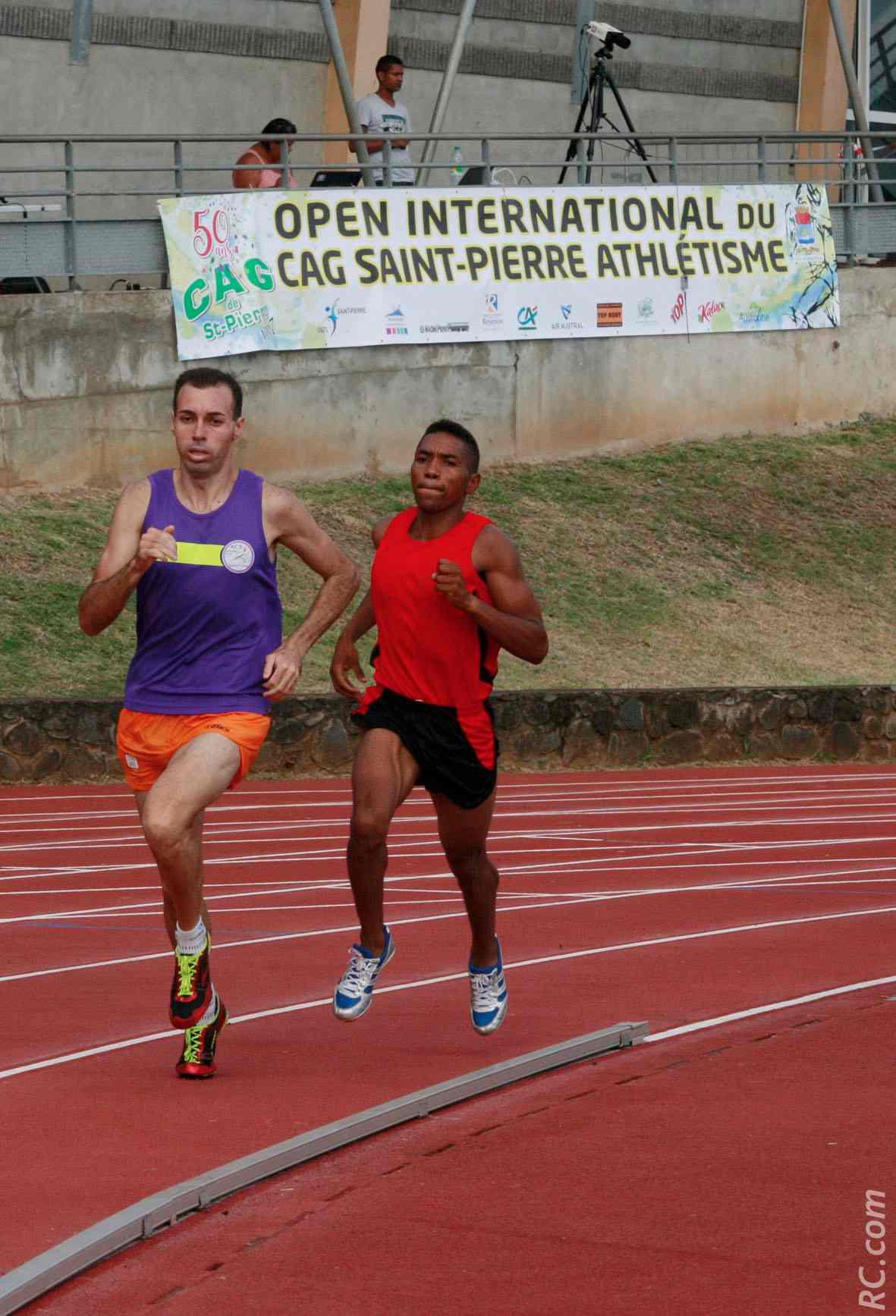 Vincent Hoarau a crânement tenté sa chance face au Malgache Ernest Rakotonirina, vainqueur du 800 m