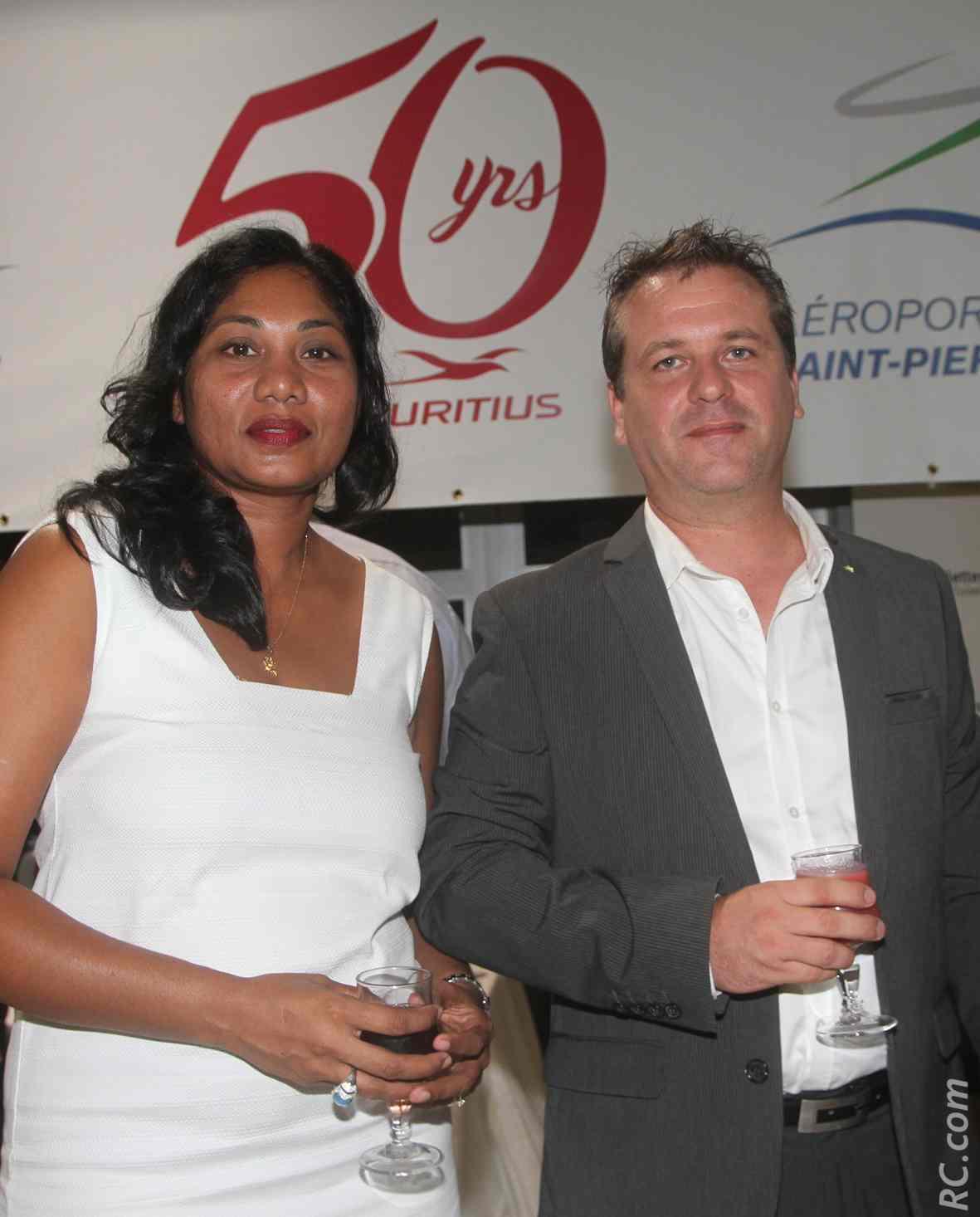 Sovida Brosse, directrice de Palmier Tour, et  Laurent Brosse, de Réunion Froid Service
