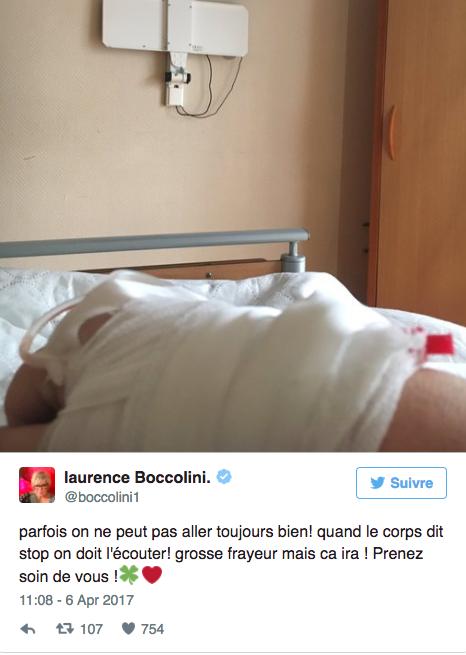 Laurence Boccolini hospitalisée