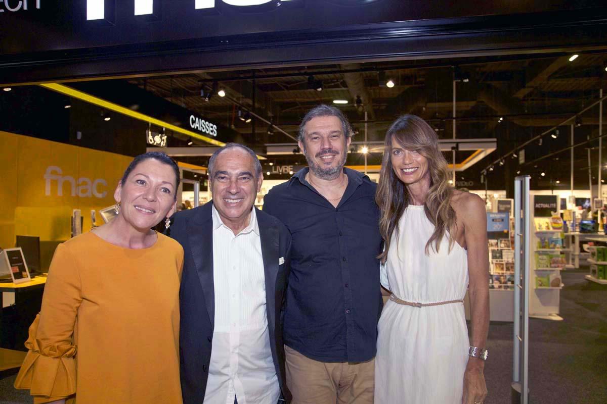 Sylvène Mora, son époux Michel Rym, Yves Derhy et Isabelle Troesch