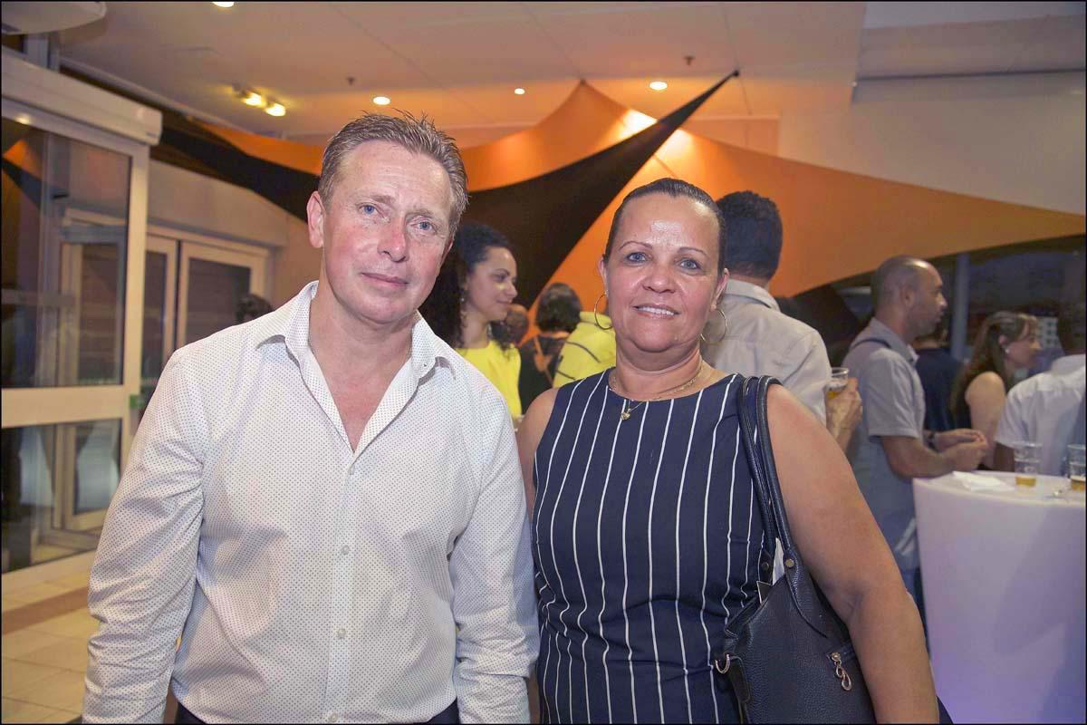 Dany Leveneur du groupe LM, et Jeanine Pitou de Vindémia