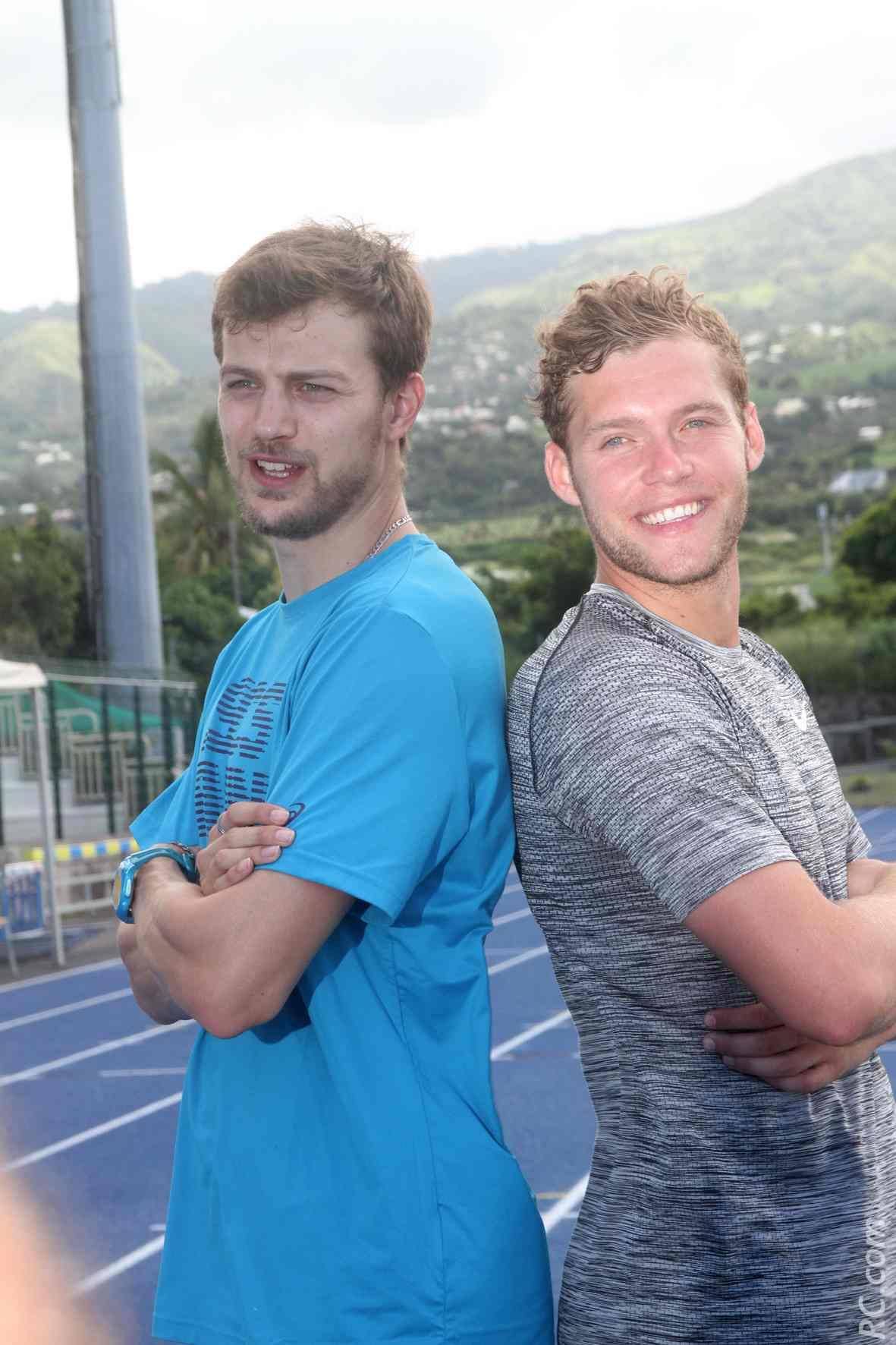 Christophe Lemaître et Kevin Mayer, tous deux médaillés Olympique à Rio. Il y a de la complicité entre ces deux là