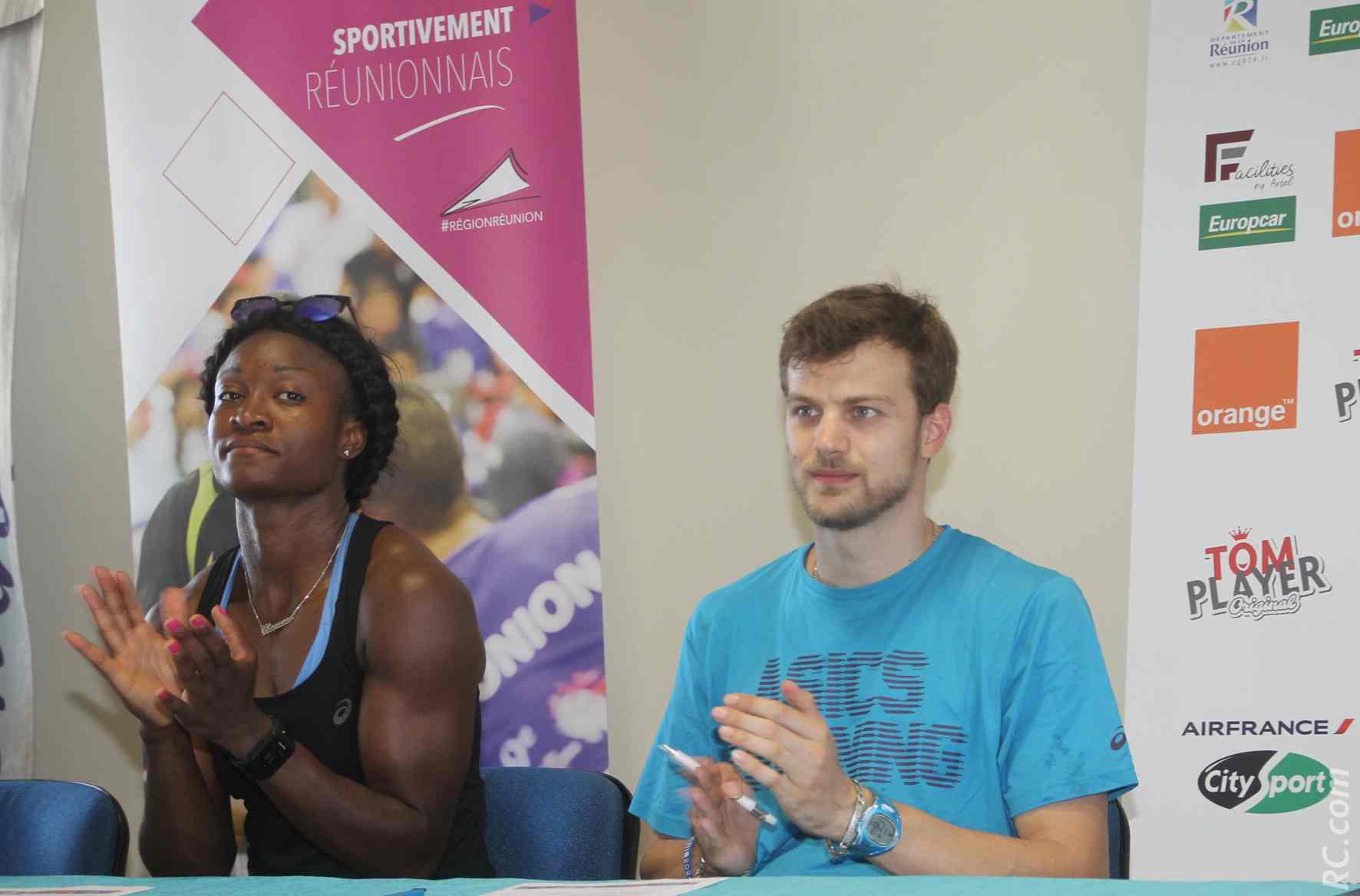 Antoinette Nana Djimou, spécialiste de l'heptathlon et du pentathlon. Elle sera sur le 200m, la hauteur et le poids. Christophe Lemaître applaudit déjà des deux mains