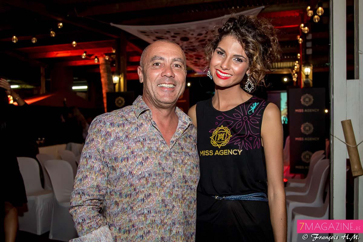 Dominique Barret et Marie Payet, Miss Réunion 2011
