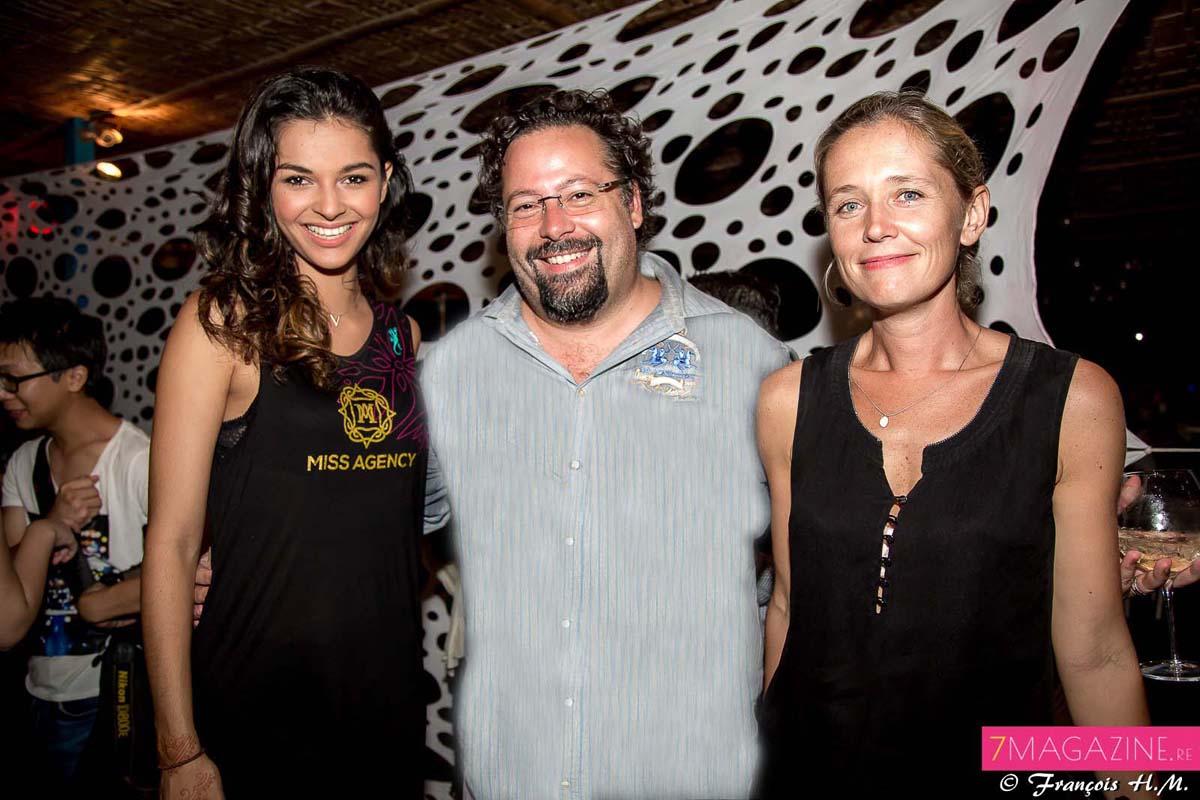 Azuima Issa, Miss Réunion 2015, Yann Lefebvre, président du groupe Exsel, et son épouse Alexandra
