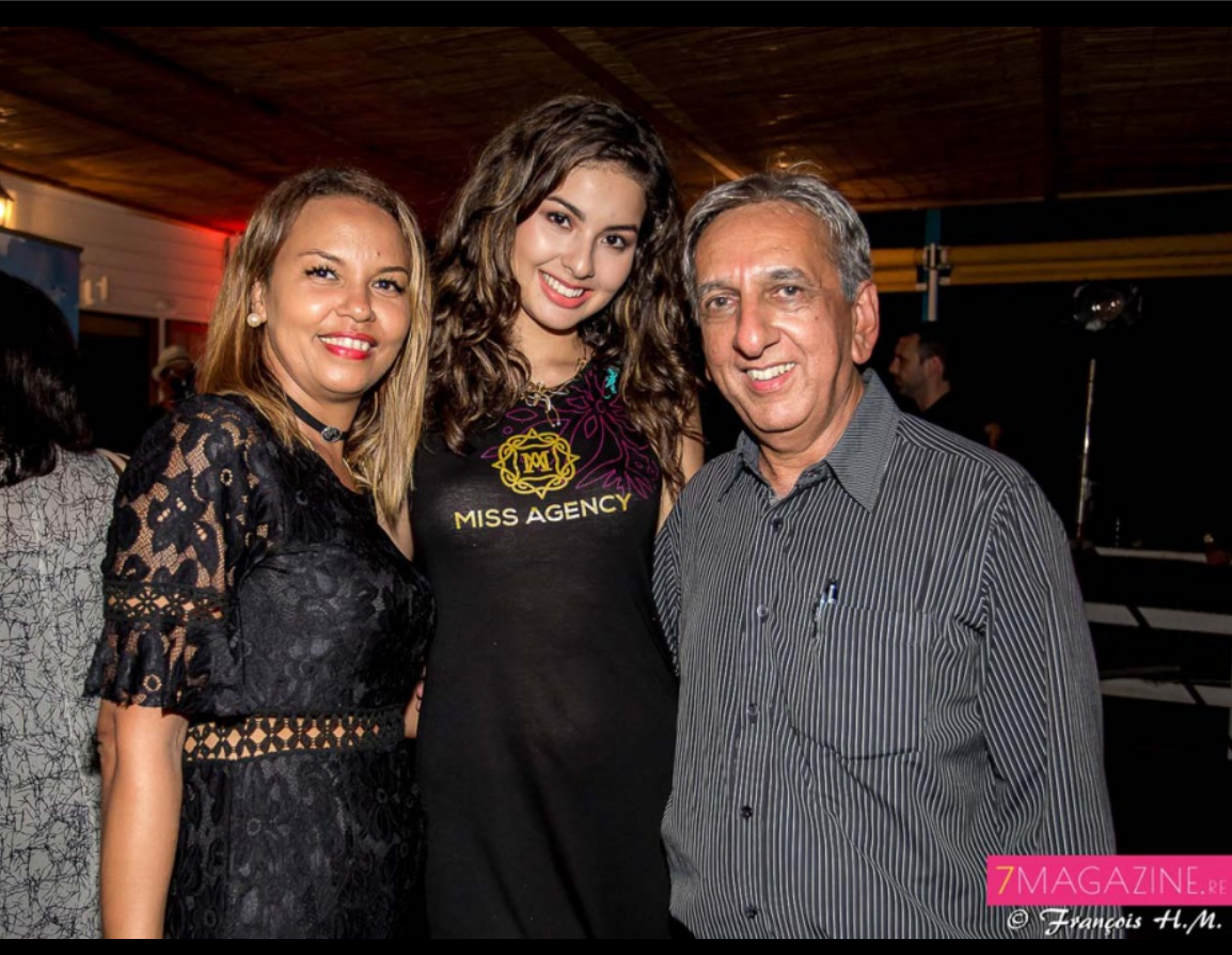 Laurence de Lo Vip Institut, Ambre N'guyen, et Aziz Patel du Comité Miss Réunion