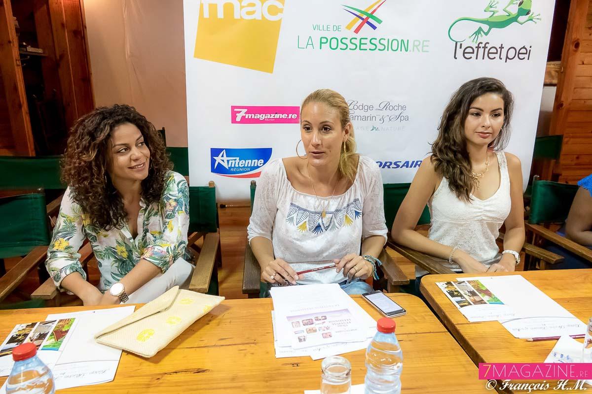 Vanessa Cazal, entourée de Aurélie Béton et Ambre N'guyen