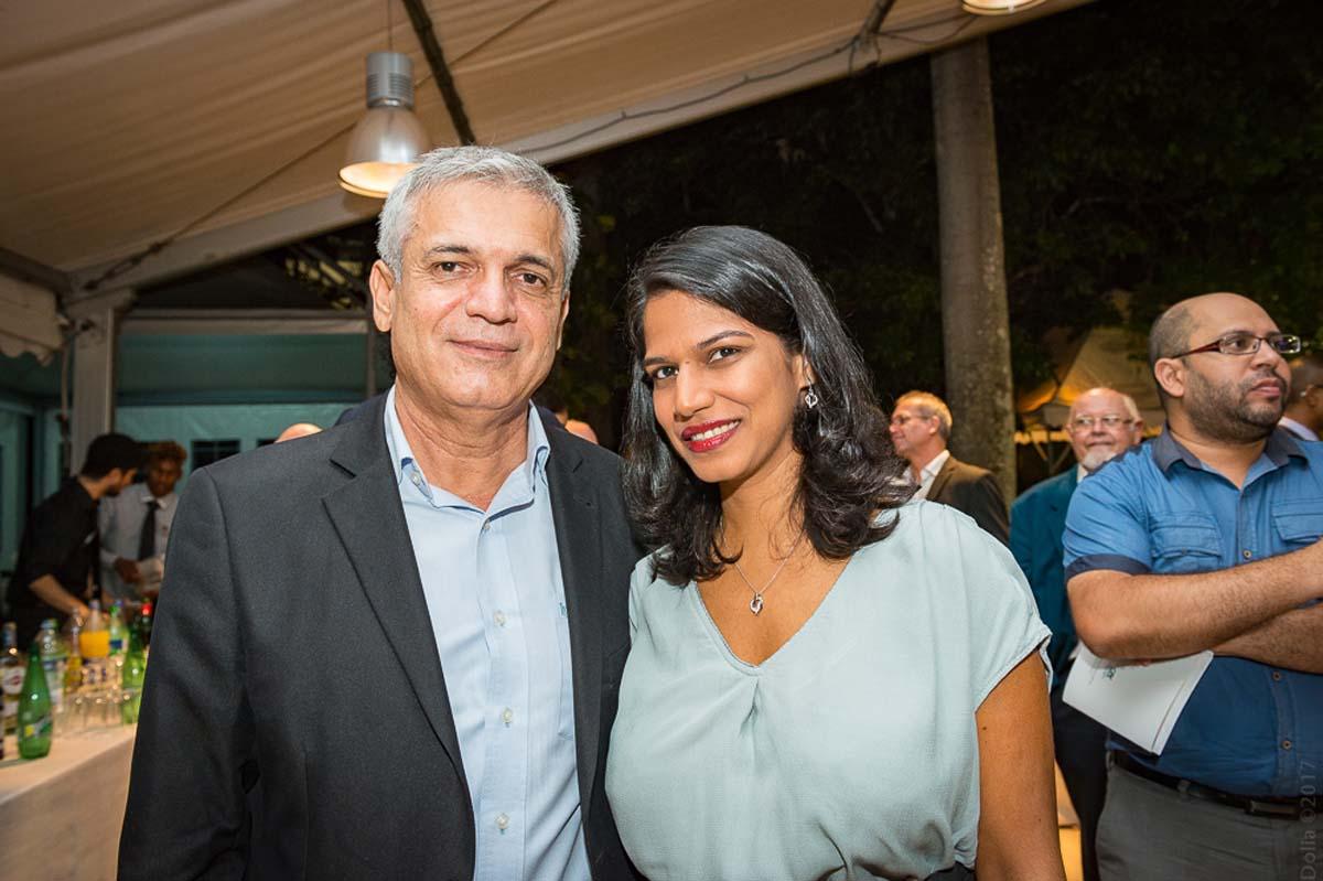 Michel Dijoux, PDG du groupe Dijoux, et sa compagne Ingrid Taïlé Manikom