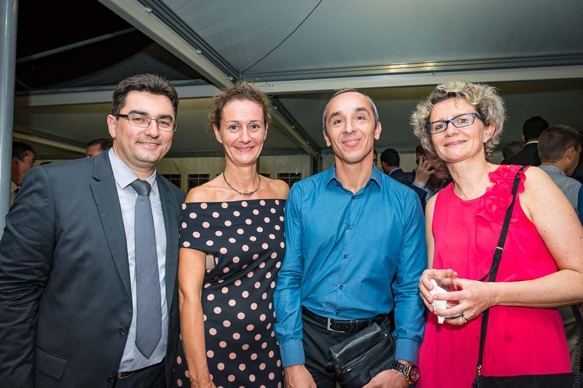 Eric Gaultier, responsable Marché des pros du Crédit Agricole, Claire-Lise Hurlot, adjointe au directeur général, son époux, et madame Jack Bouin