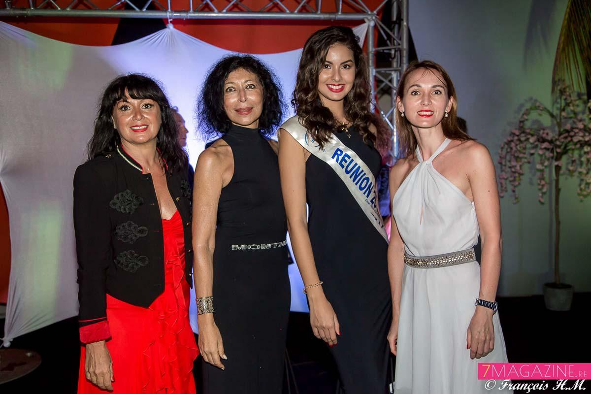 Carine Lecomte, Myrella Cadet, directrice Trace Océan Indien, Ambre N'guyen, et Mariana Ulianova Rocher, responsable commerciale Patrizia Pepe