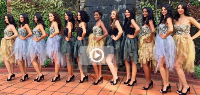 Vidéo :  les candidates Miss Réunion 2017