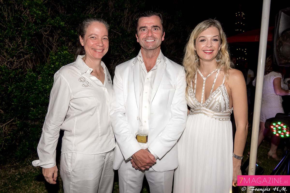 Catherine Frécaut, directrice Bourbon Voyages, David Anderson et Johanna Giblot Ducray