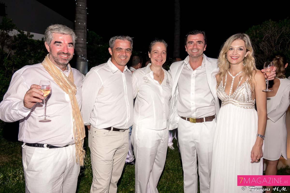 Marc Hamelot, Frank Morel, directeur Indriya, Catherine Frécaut, David Anderson, et Johanna Giblot Ducray