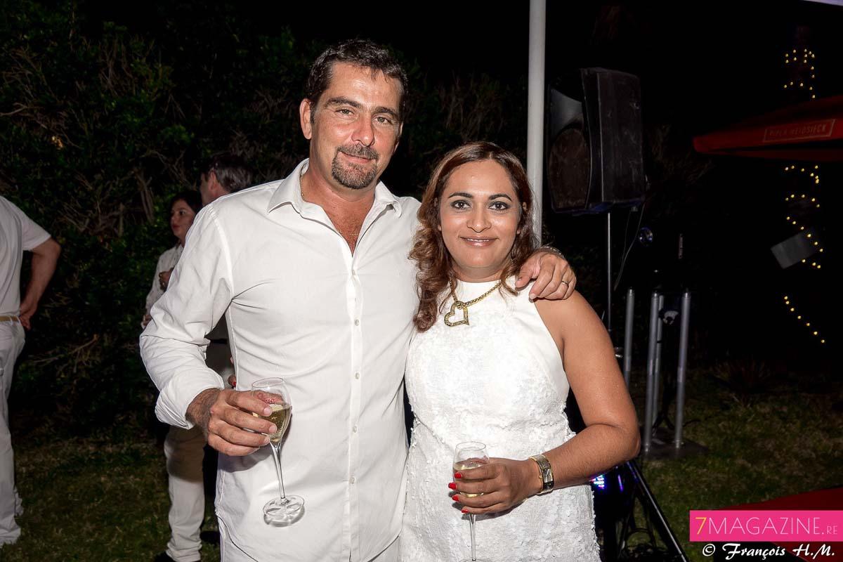Adam Choucair, responsable partenariats Golf Bassin Bleu, et son épouse Estelle, directrice communication Mairie de Saint-Denis