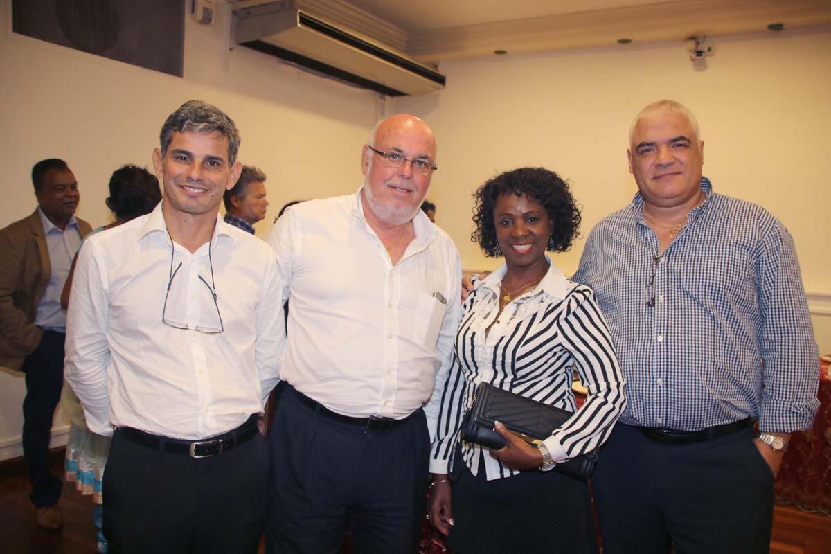 Frédéric Foucque avec Daisie Virama et Christian Clain