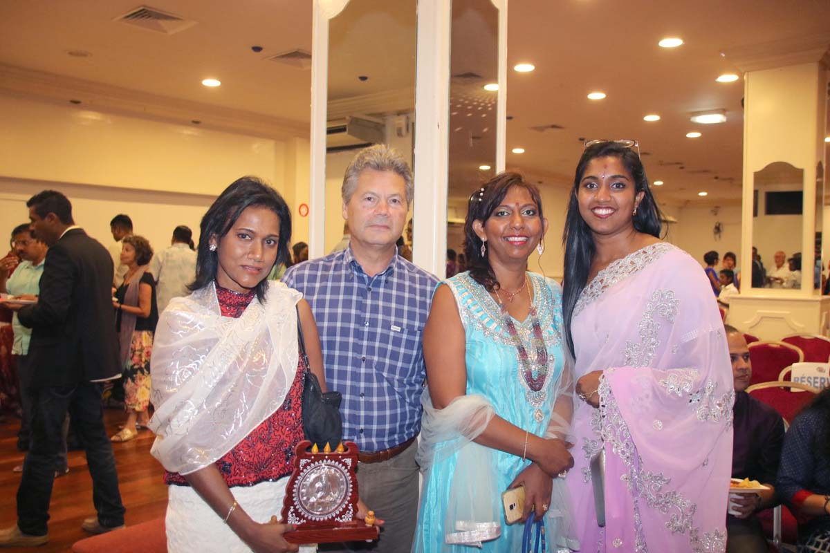 Nadia Ramassamy, Luçay Sautron, DGA Région Réunion, Lynda Savaranin, et Catherine Balaya, médecin,