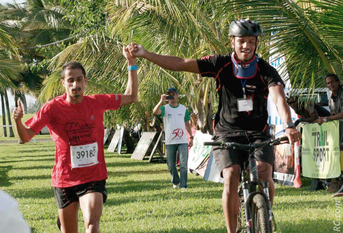 L'arrivée victorieuse de Raymond Fontaine sur les 15km