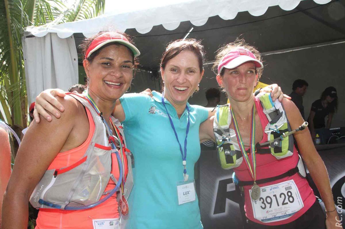 Arianne Bellepeau et Vanessa Bayol ont disputé les 35 km. Avec les bravos de Vanessa de l'équipe organisationnelle