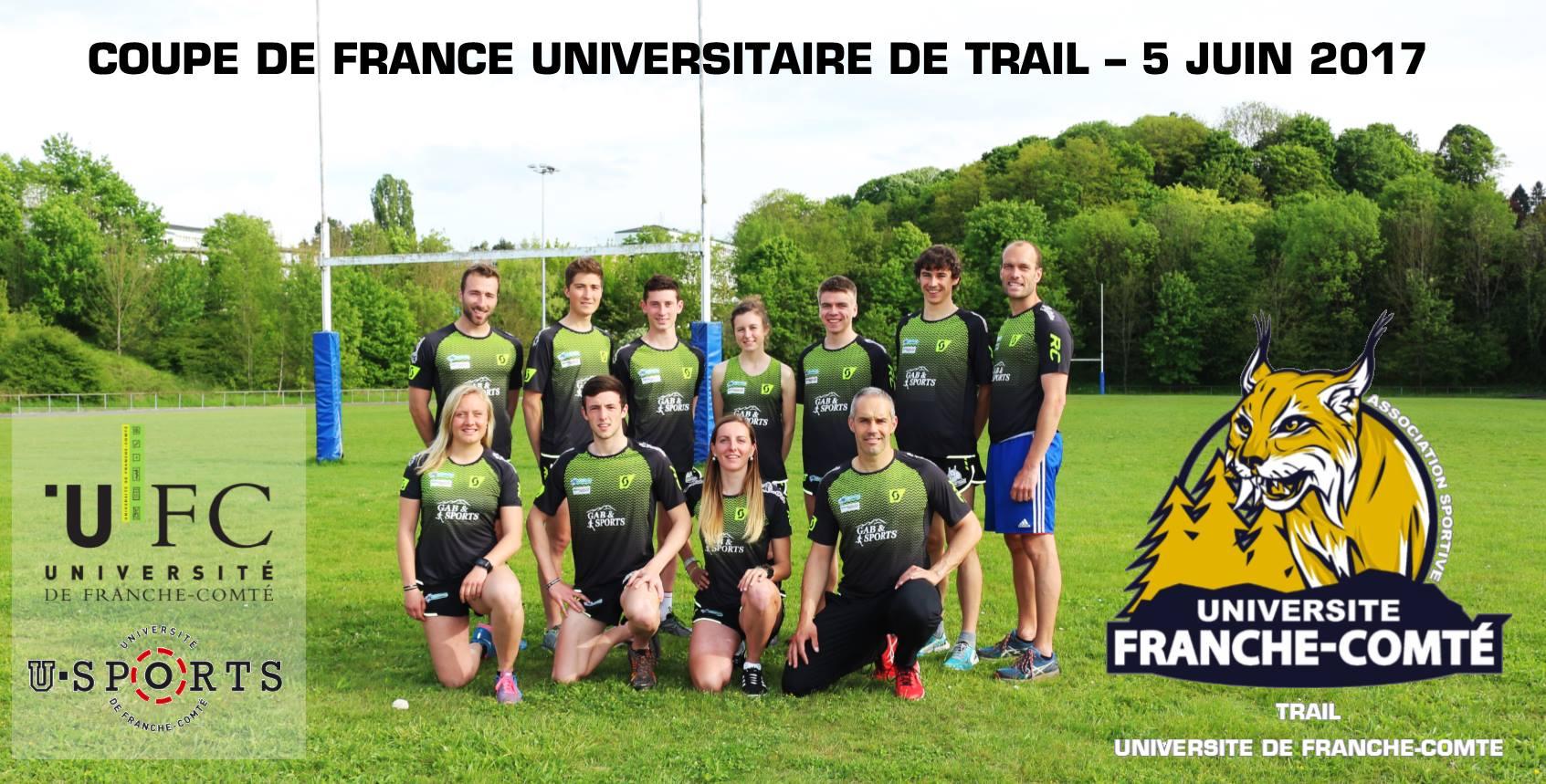 Une fière équipe de Franche-Comté au départ à Halte-Là