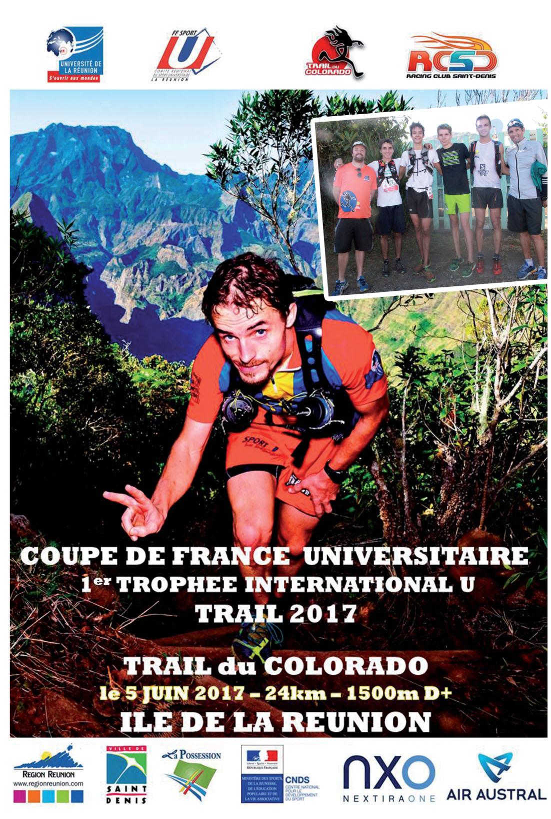 Championnat de France Universitaire et Trophée International de trail 2017 : La Réunion terre d'accueil