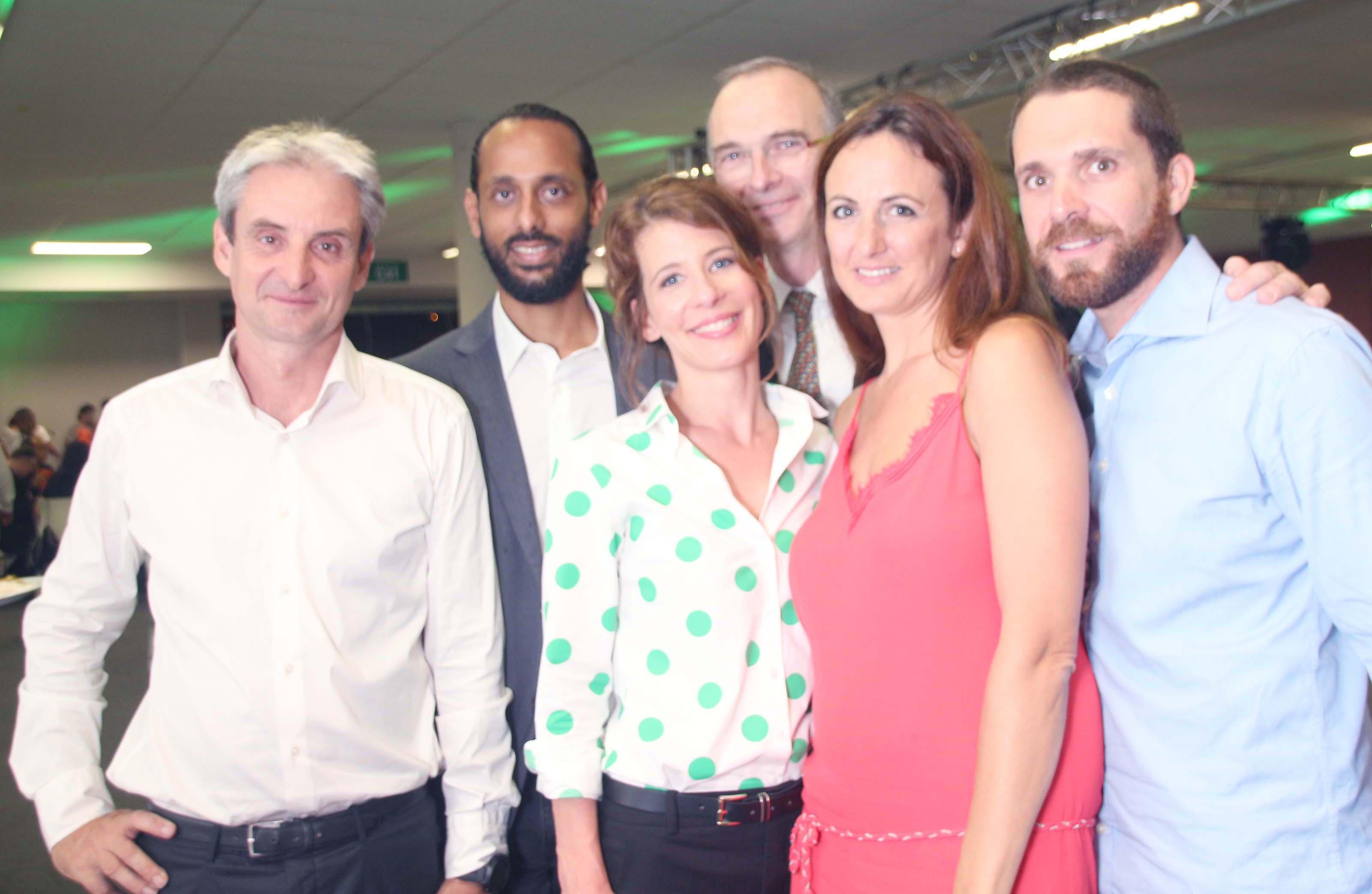 Cerise de Groupama entourée d'invités et partenaires