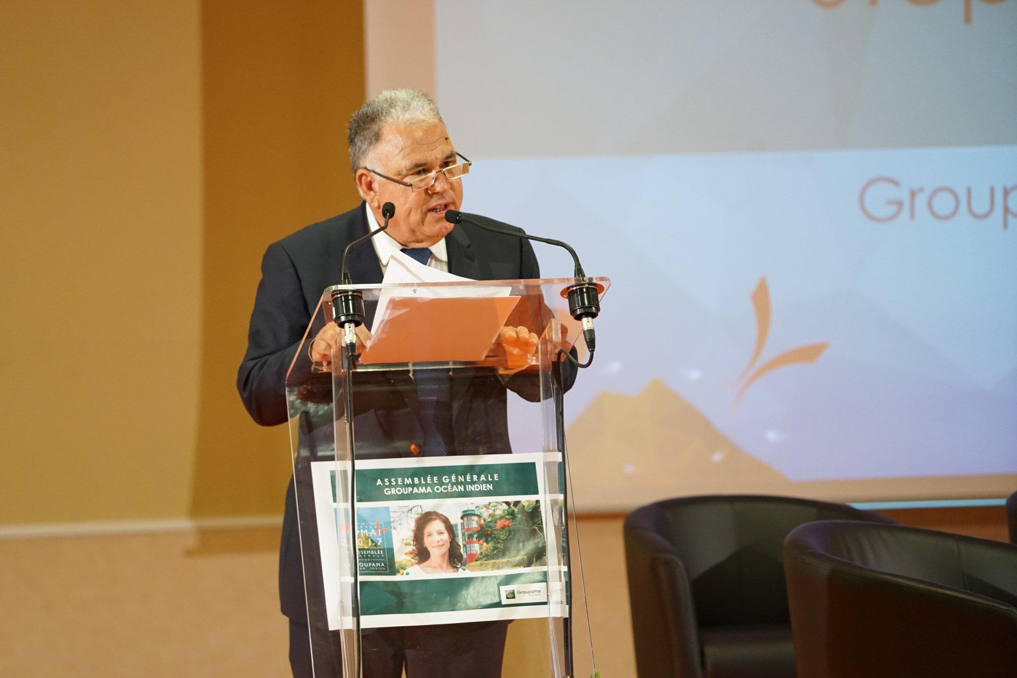 Stéphano Dijoux, président de Groupama Océan Indien