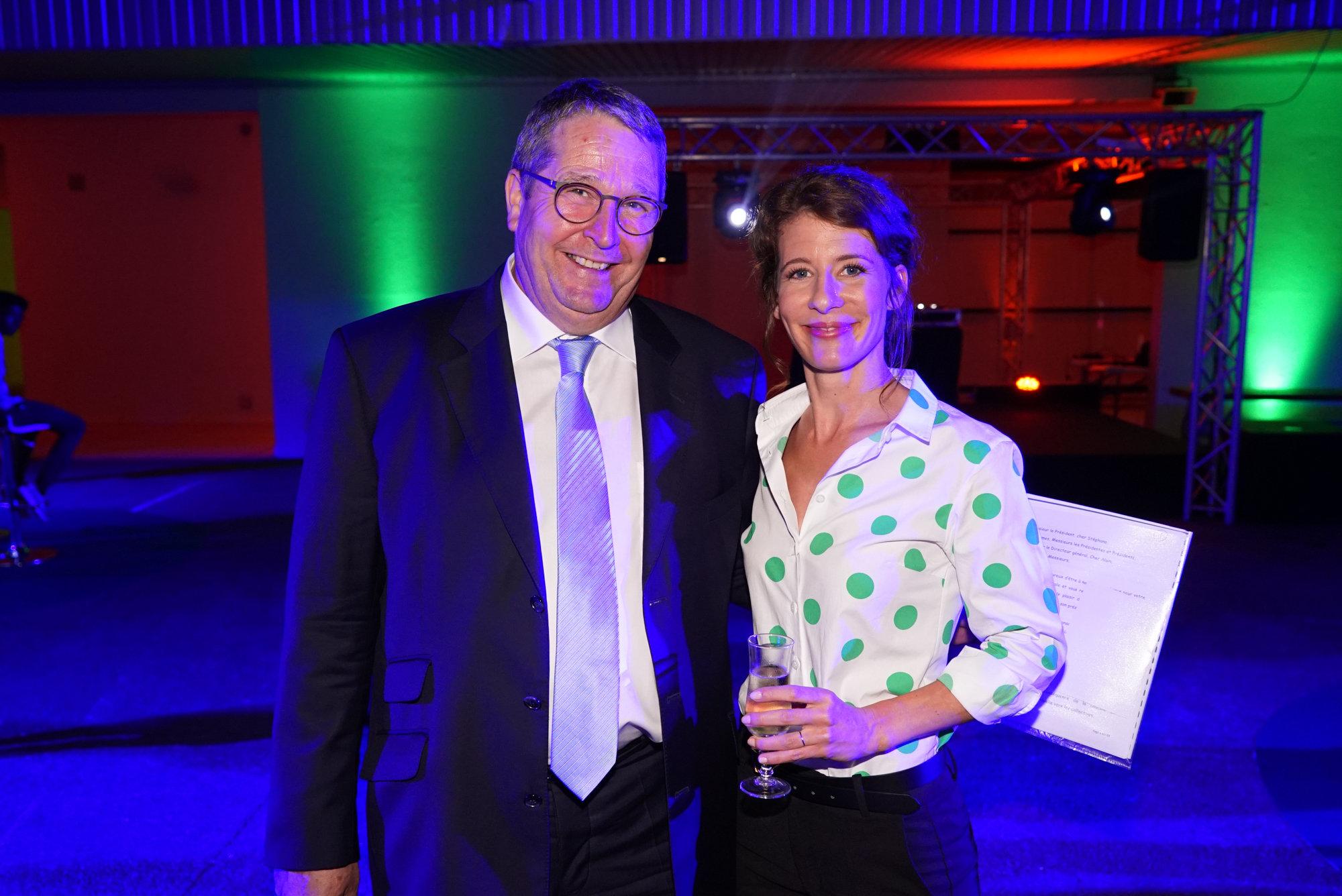 Cerise et Michel Baylet, vice-président de la Fédération Groupama