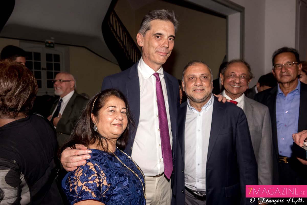 Dominique Sorain avec Rabia et Osman Badat