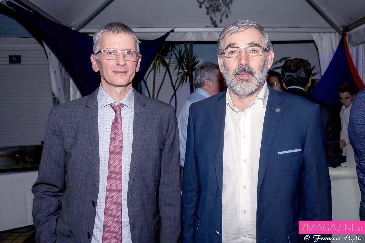Hervé Maziau, directeur général Engen Réunion et Eric Wuillai, directeur général CBO Territoria