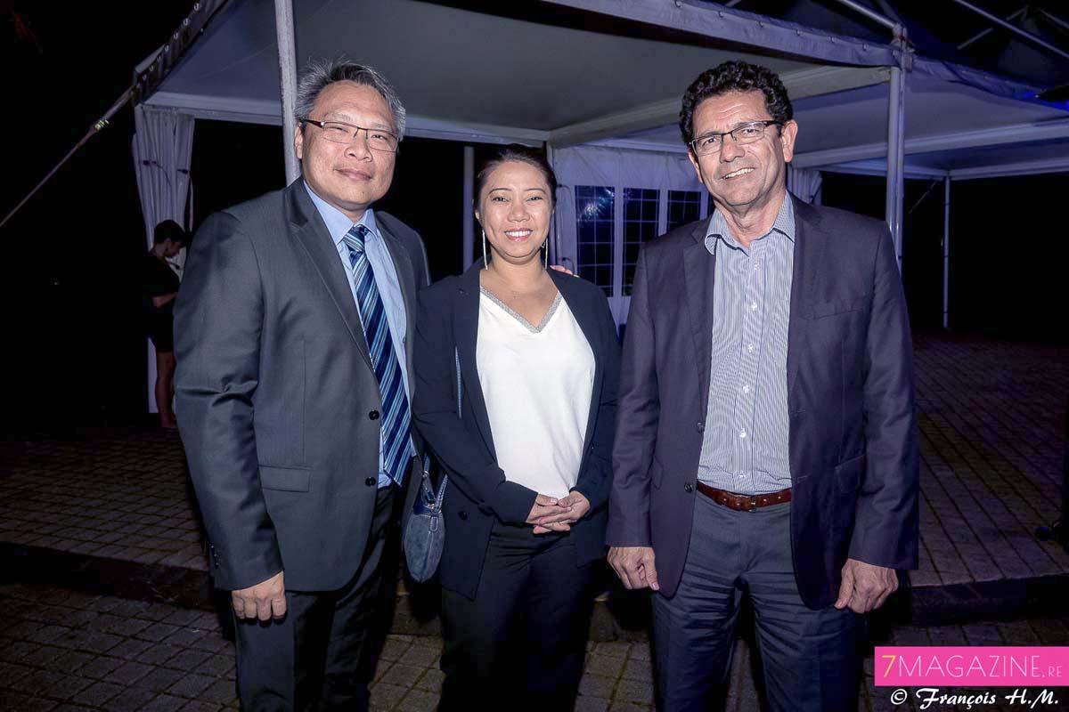 François Ho Poon Sung de la BFC-OI et son épouse, et Gilbert Martin de ACG Management