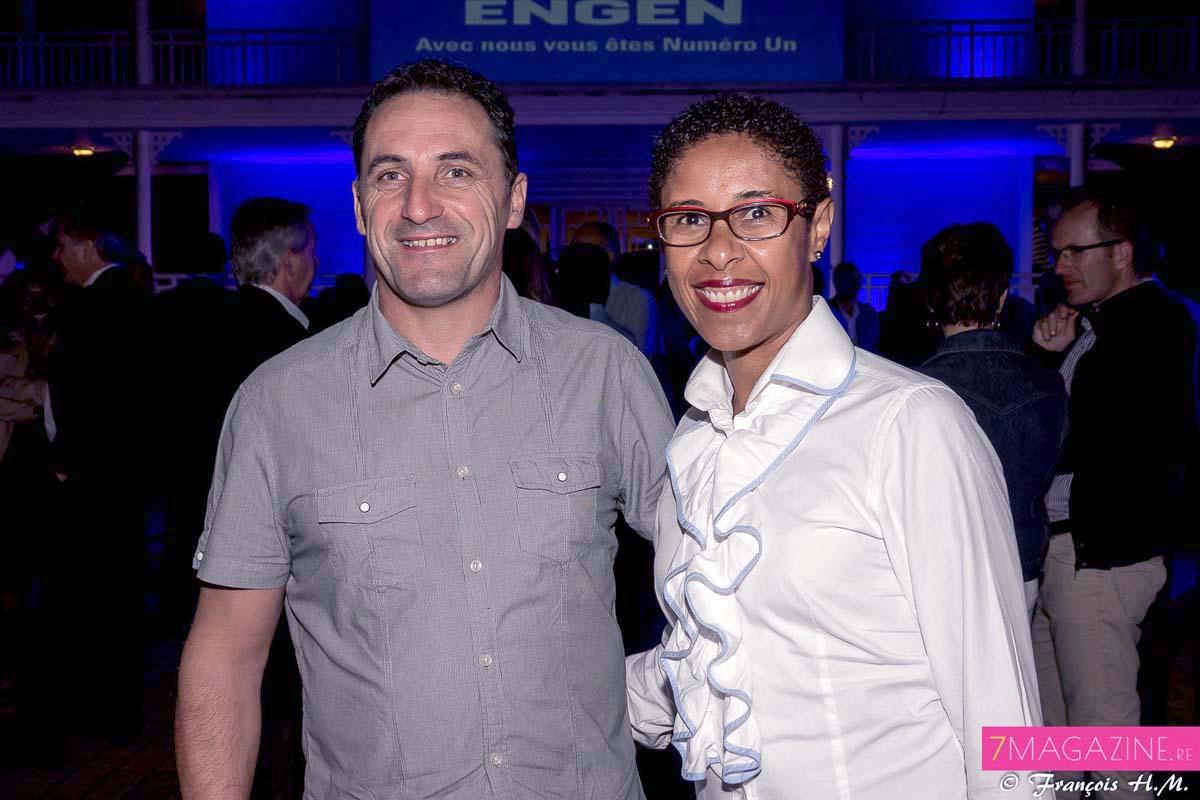 Laurent Hamerel de la société LH Agencement et son épouse