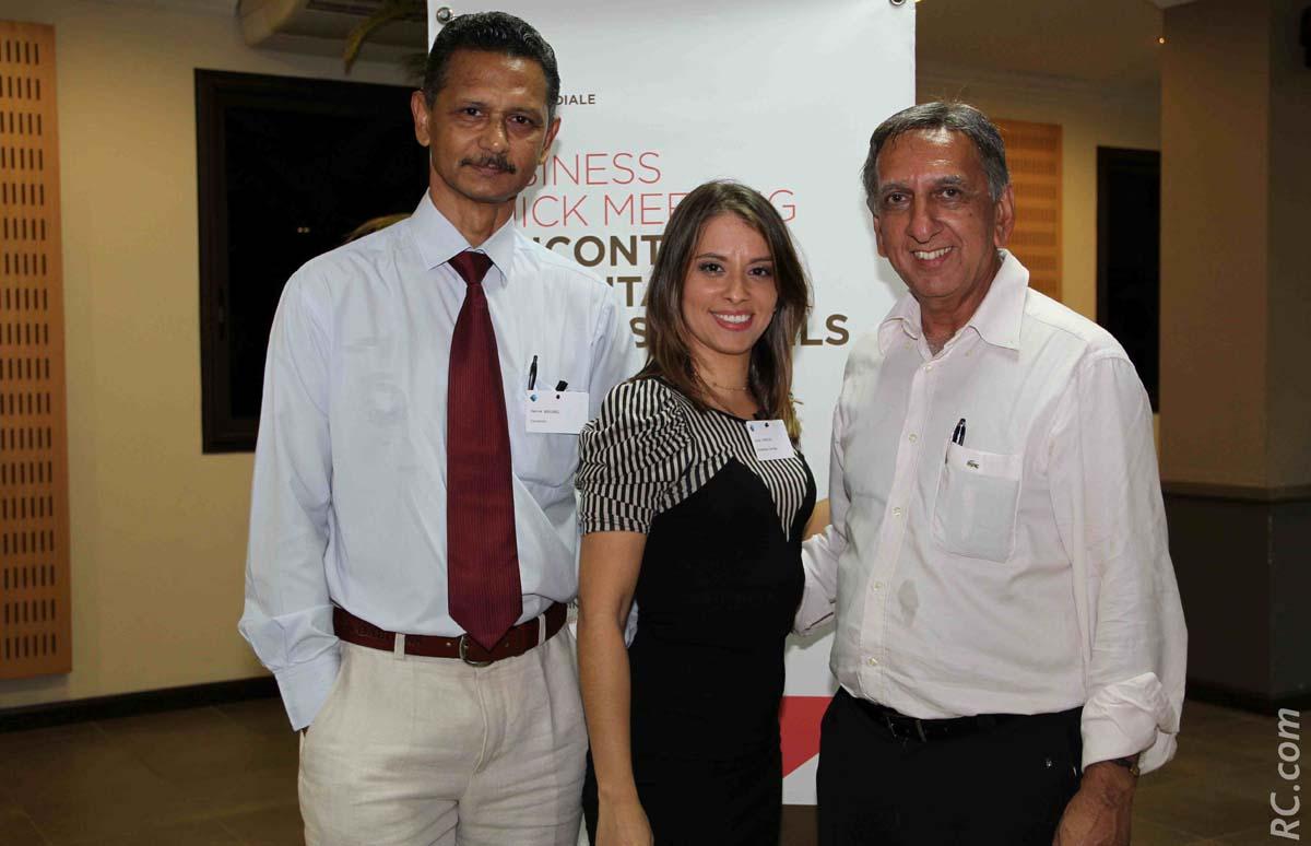 Nicolas Bovalo, Sarah Ardouin, et Aziz Patel
