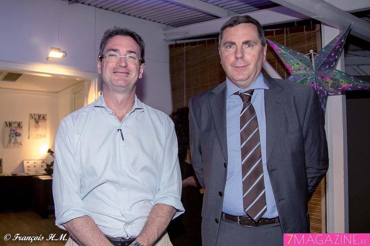 Bertrand Sireyjol, désormais ex-directeur Cotrans Automobiles (il a un nouveau poste au Maroc), et Nicolas Assier de Pompignan, directeur du Groupe Bernard Hayot