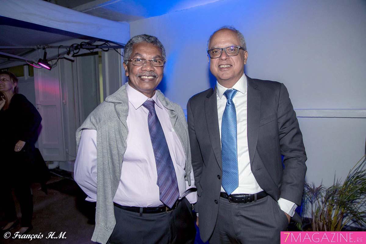 René-Paul Victoria et Didier Fauchard, président du Medef