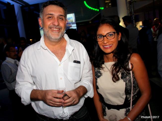 Gilles Carrasset Médecin et Yolande Calichiama Directrice de l'information sur Antenne Réunion