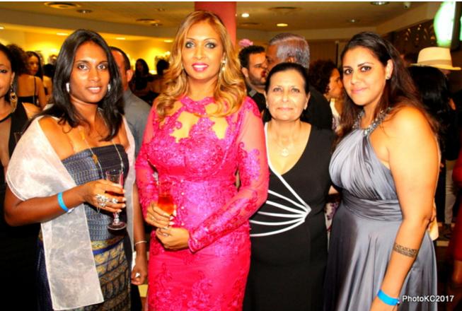 Indrany, Rada, Corine et Déborah les belles de la soirée