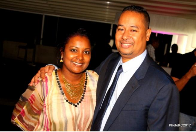 Jean Louis Moutoussamy des Autocars des Mascareignes avec sa femme Sylvie