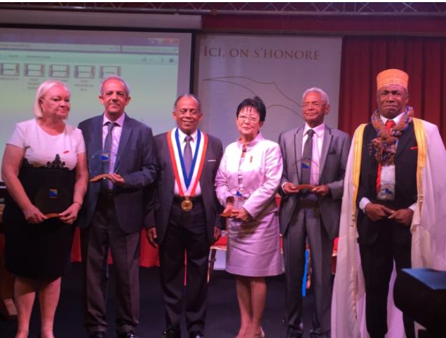 Madame Aude, Raoul Lucas, Gilbert Annette, Nicole Chon Nam, Henri Bourhis et Ali Abdallah