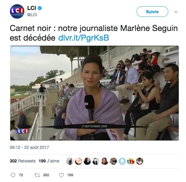 LCI lui rend hommage sur Twitter