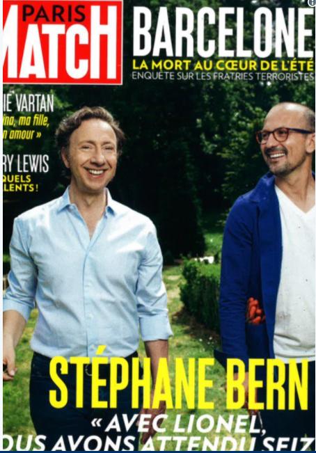 Stéphane Bern en Une de Paris Match avec son nouveau compagnon