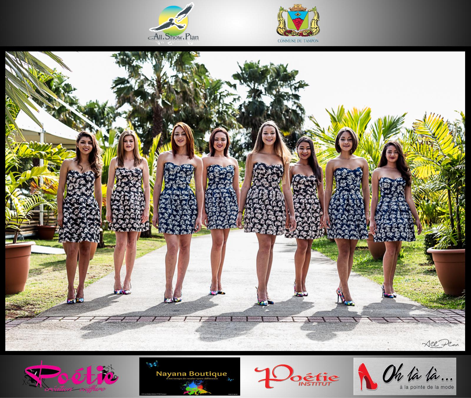 L'incroyable relooking des candidates Miss Ville du Tampon 2017