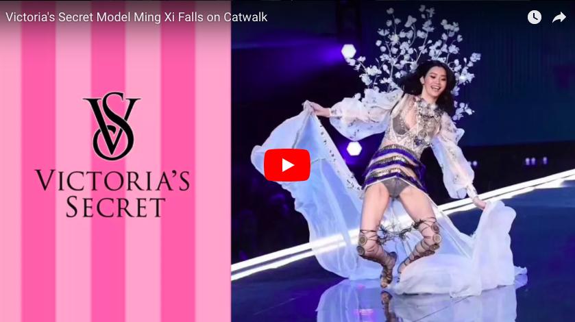 Chute mémorable du mannequin Ming Xi au défilé Victoria's Secret