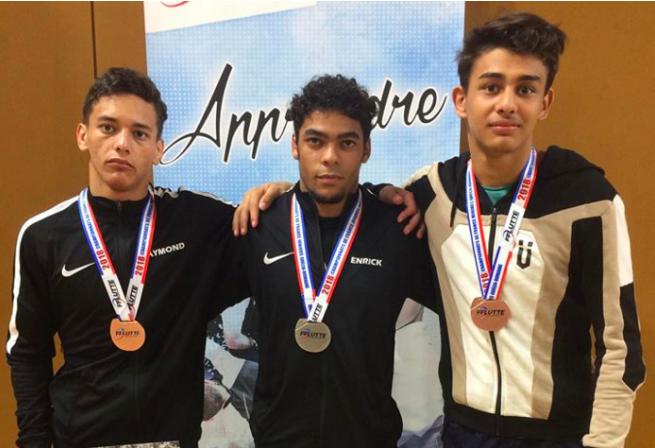 Trois médailles pour les Réunionnais en championnat de France de Lutte Gréco-Romaine